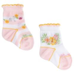 Chaussettes fleurs...