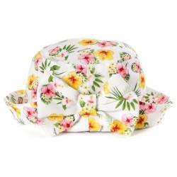 Chapeau fleurs tropicales...