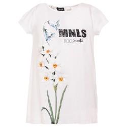 Tunique blanche & fleurie...