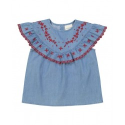 Blouse Victoire chambray...
