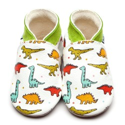 Chaussons cuir dino...