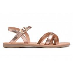 Sandales camel & cuivre...
