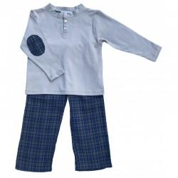 Pyjama 2 pièces gris...