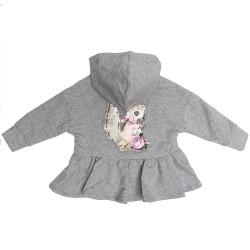 Gilet zippé gris écureuil...