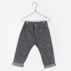Pantalon pied de poule gris...