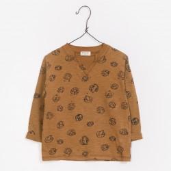 T-shirt marron champignons...