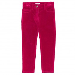 Pantalon velours slim rose...