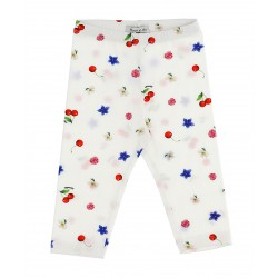Leggings Cherry blanc Bébé...