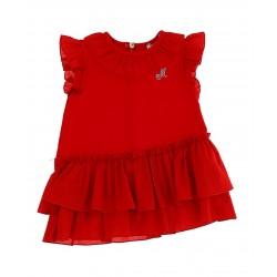 Robe rouge volantée Bébé...