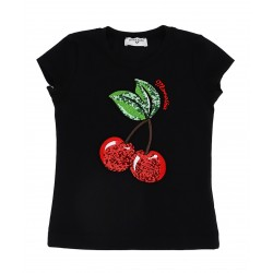 T-Shirt Cherry noir Junior...