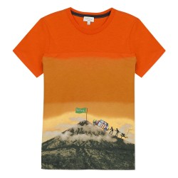 T-shirt montagne orange...