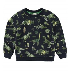 Sweat dinos tropicaux noir...
