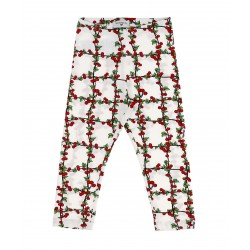 Leggings blanc cherry...