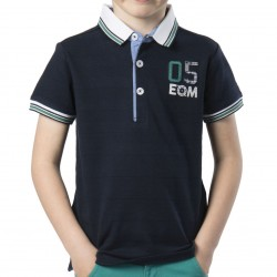 Polo bleu MC Junior EOM