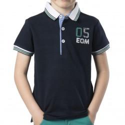 Polo bleu MC Junior EOM
