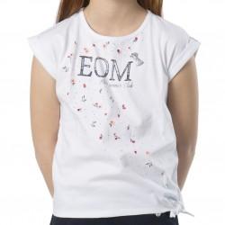 T-shirt MC blanc fleurs...