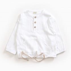 T-shirt effet chemise blanc...