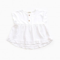 Top broderie anglaise blanc...