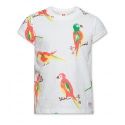 T-Shirt blanc perroquets...