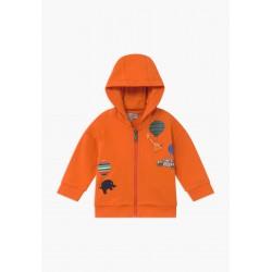 Sweat zippé orange...