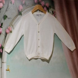 Cardigan blanc Junior Rose...