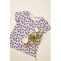 T-shirt MC rose oiseaux...